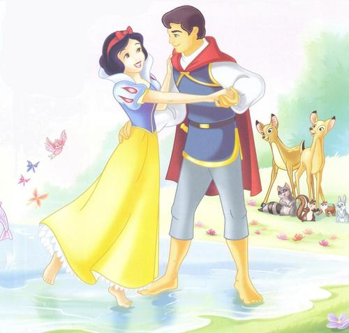 Snow White and the Seven Dwarfs wallpaper titled Snow White and the Prince