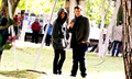 Stanathan(03/26/14)-BTS 6x22 - nathan-fillion-and-stana-katic photo