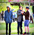 Stanathan-BTS 6x22 - nathan-fillion-and-stana-katic photo