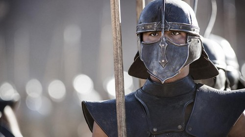 Game of Thrones wallpaper probably with an armet, a sallet, and a breastplate entitled Stills from season 3 in HBO Viewer's Guide