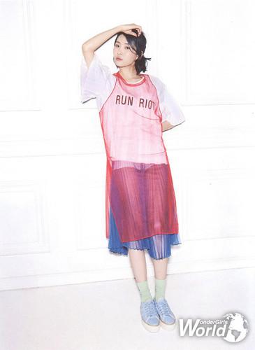 Sunmi Обои possibly containing a frock, an outerwear, and a легкий костюм с шортами, спортивный костюм, комбинезон called Sunmi for Oh! Boy magazine