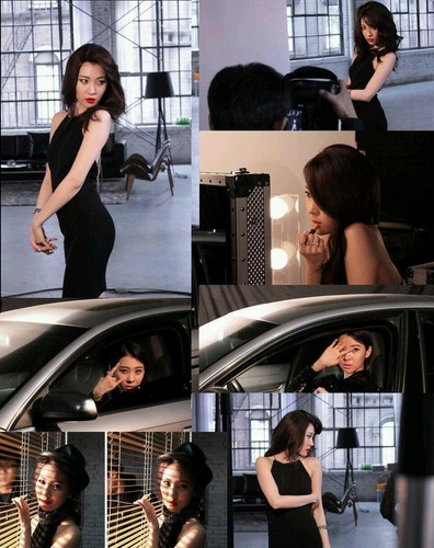 Sunmi fond d'écran probably with a rue and an automobile titled Sunmi