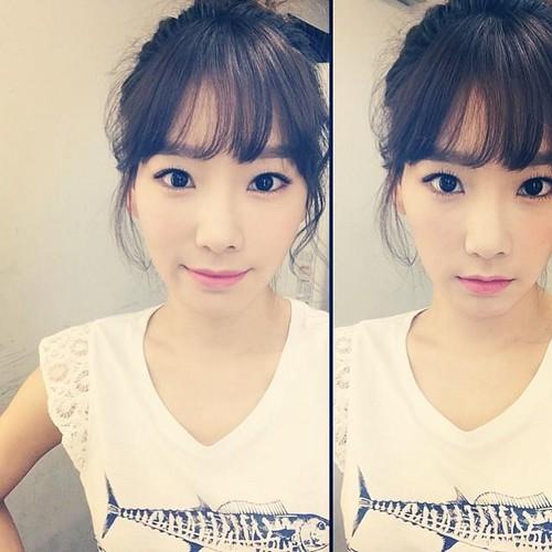 তাইয়েওন (এসএনএসডি) দেওয়ালপত্র probably with a portrait entitled Taeyeon Instagram Update