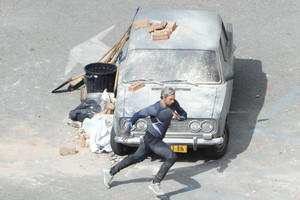 The Avengers: Age of Ultron Set Fotos - Quicksilver