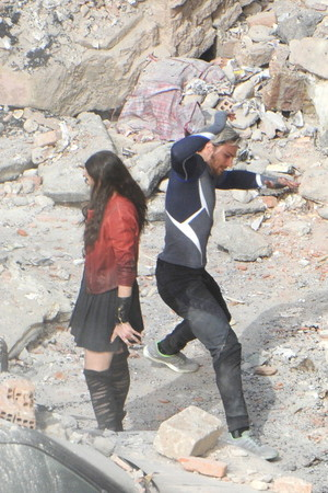 The Avengers: Age of Ultron Set mga litrato - Quicksilver