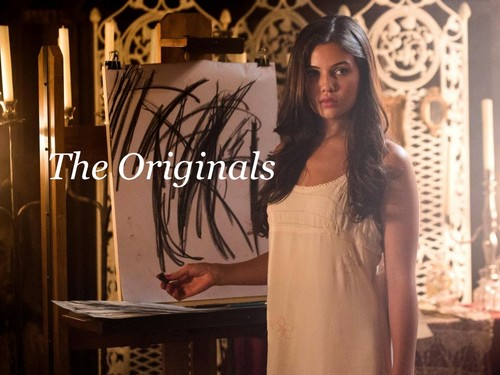 The Originals Hintergrund probably containing a sign and an outerwear titled The Originals - Davina