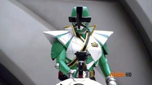 Green super samurai