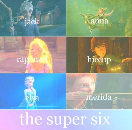 Rise of the 겨울왕국 메리다와 마법의 숲 라푼젤 용 바탕화면 possibly with 아니메 called The Super Six