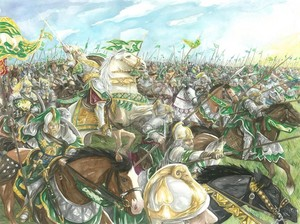 The ride of the Rohirrim by Abe Papakhian