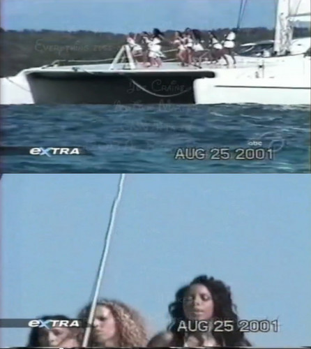 Aaliyah achtergrond possibly with a ponton titled Aaliyah shooting 'Rock the Boat' on the Bahamas