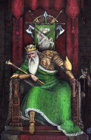 Theoden, king of Rohan 由 Allan Barbeau