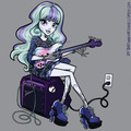 Twyla playing the guitar - monster-high fan art