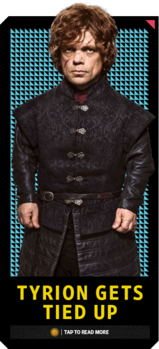 House Lannister wolpeyper with a business suit titled Tyrion Lannister