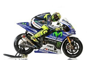 Vale and his new Yamaha for season 2014