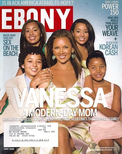Vanessa And Her Family On The Cover Of EBONY Magazine