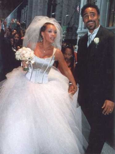 Vanessa And Rick vos, fox On Their Wedding dag Back In 1999