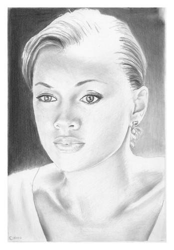 Vanessa Williams achtergrond with a portrait entitled Vanessa Williams
