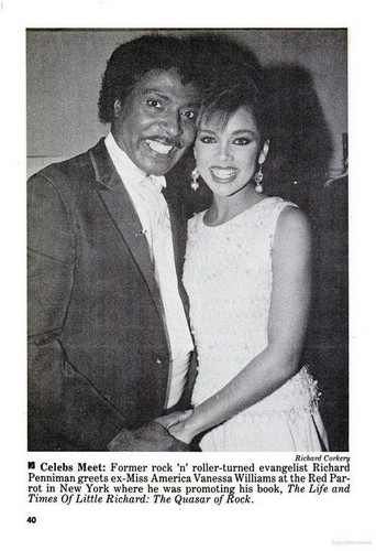 Vanessa Williams achtergrond containing a business suit titled Vanessa Williams And Little Richard