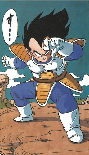 Prince Vegeta Wallpaper Containing Anime Entitled Vegeta Manga
