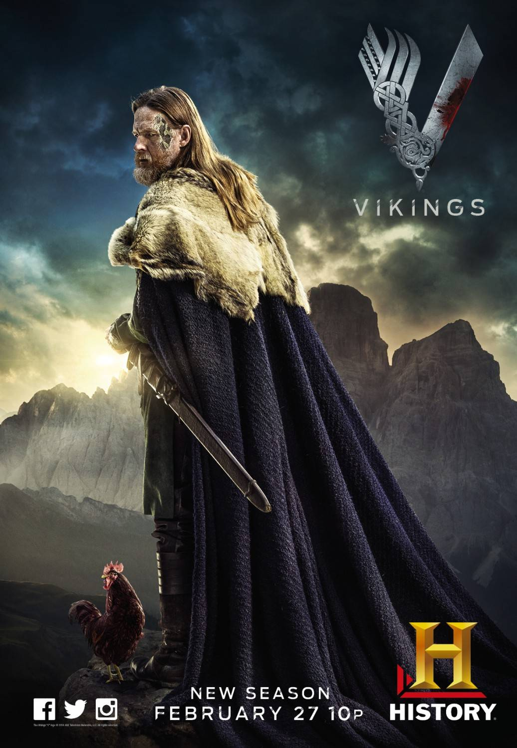 Vikings Season 2 Character Poster - Vikings (TV Series ...