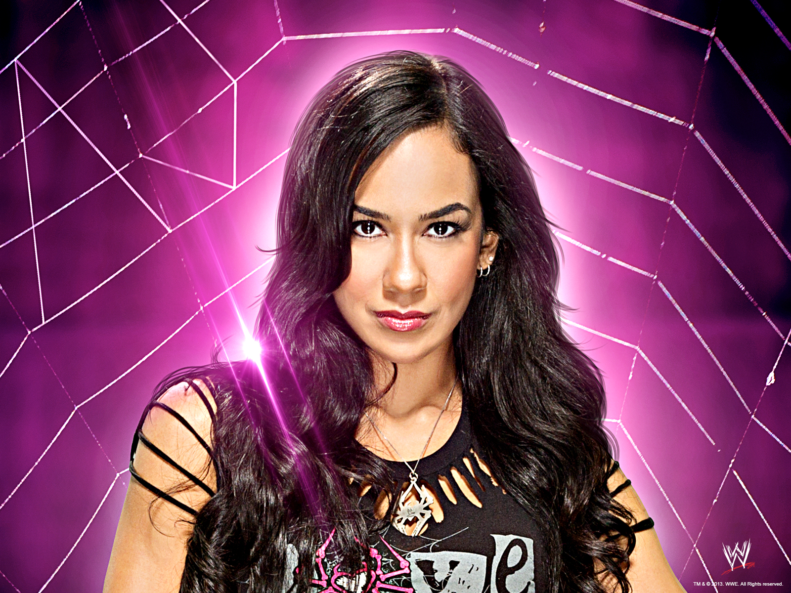 Wwe diva aj lee wwe wallpaper 36843516 fanpop - Wwe divas wallpapers ...