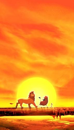 Walt Disney Characters karatasi la kupamba ukuta with a sunset called Walt Disney Posters - The Lion King