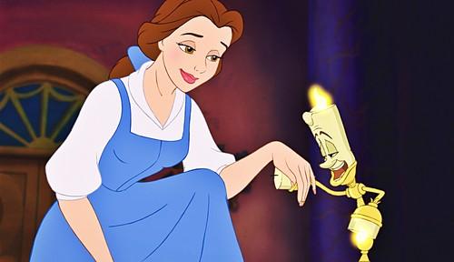 Karakter Walt Disney kertas dinding possibly with Anime titled Walt Disney Screencaps - Princess Belle & Lumière