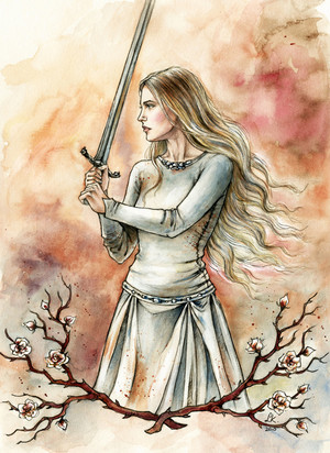 White Lady of Rohan by Liga Klavina