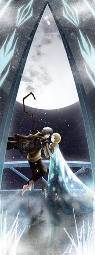 Elsa & Jack Frost karatasi la kupamba ukuta titled Winter upendo