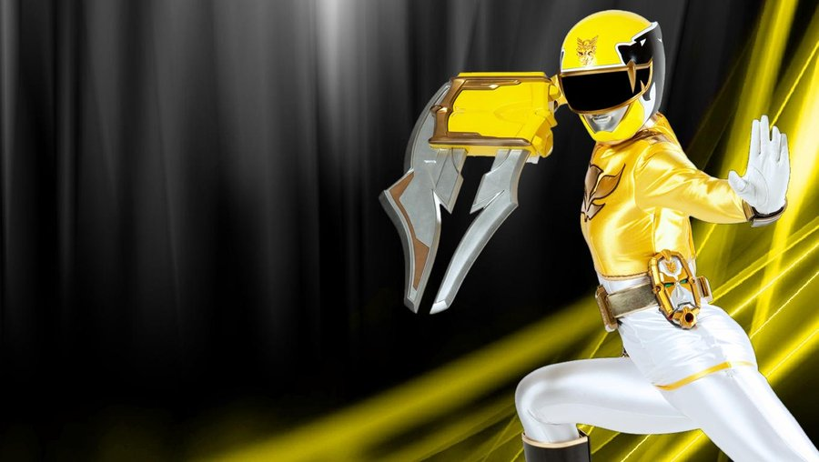 yellow power ranger megaforce-#26
