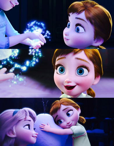 Frozen wallpaper entitled Young Elsa and Anna