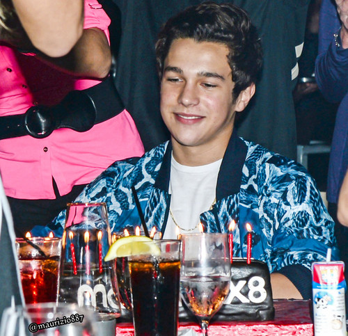 Austin Mahone wallpaper probably with a dinner table, a vodka martini, and a martini entitled austin mahone Birthday 2014