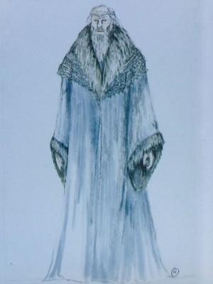 concept art of Theoden by Ngila Dickson