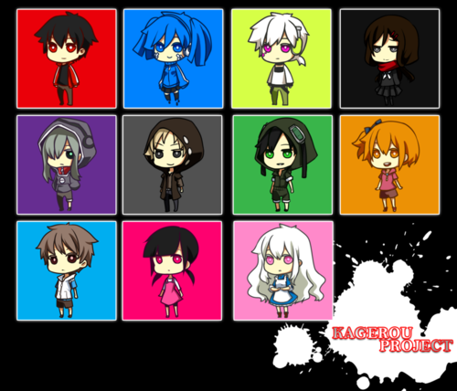 Mekaku City Actors wallpaper containing a stained glass window and anime titled creadit to artist