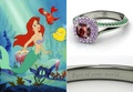 disney engagement rings - ariel photo
