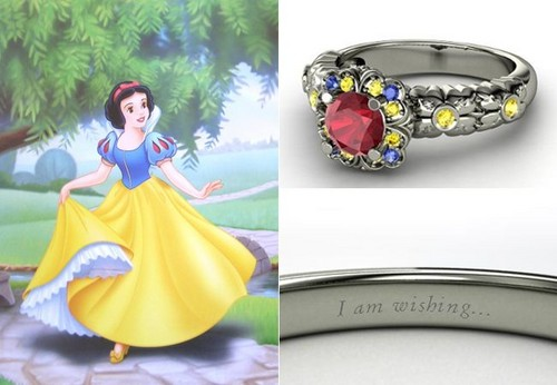 Snow White and the Seven Dwarfs wallpaper possibly with a bouquet titled disney engagement rings