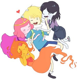 finn, fp, bubblegum, and marceline