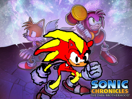 Sonic X wallpaper with anime titled flame, amy and tails.