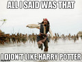 jack dosent like Hp - pirates-of-the-caribbean photo