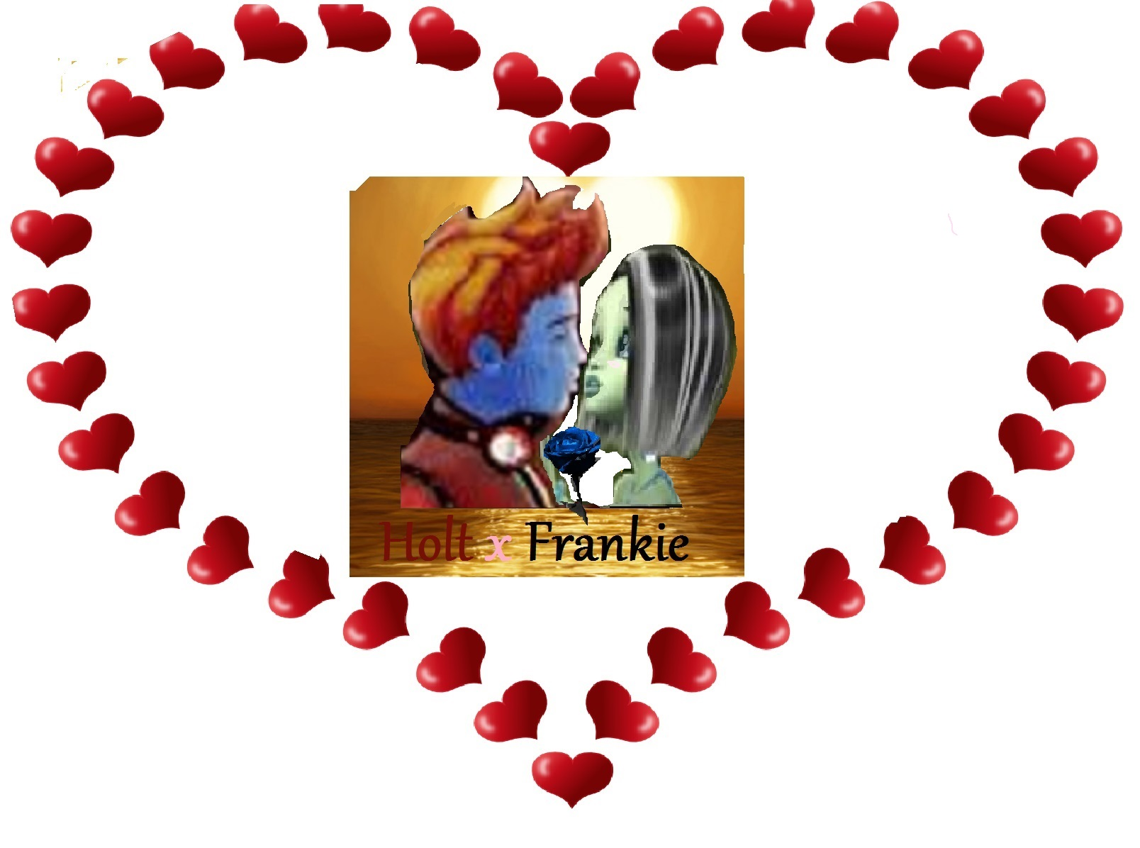 monster high s frankiexholt4ever images holt x frankie kiss sunset
