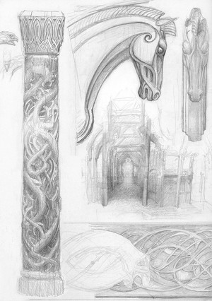 rohan sketch bởi Alan Lee