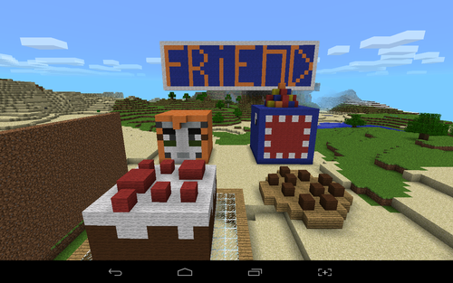 Stampylongnose wallpaper with a sign entitled stampy and squid