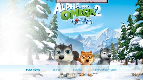 Alpha and Omega 2: a howl-iday adventure Hintergrund possibly containing Anime titled the dvd menu