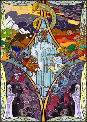 the horn of King Helm sounded door Jian Guo