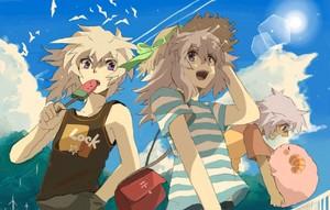 yami bakura and ryou chibi