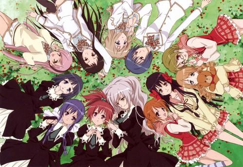 yuri wallpaper titled ♥ Strawberry Panic! ♥