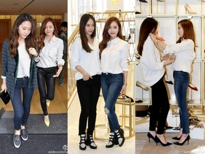 [140415] Jessica and Krystal at Jimmy Choo Event in LA