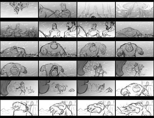 """Frozen Hintergrund titled """"Hans Captures Elsa"""" Storyboard"""