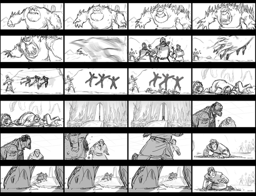 "Frozen Hintergrund titled ""Hans Captures Elsa"" Storyboard"