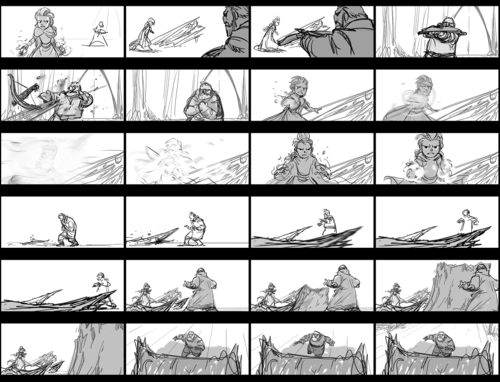 "Hans hình nền titled ""Hans Captures Elsa"" Storyboard"